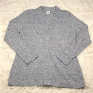 CAbi Placket Heathered Gray Top Style Top